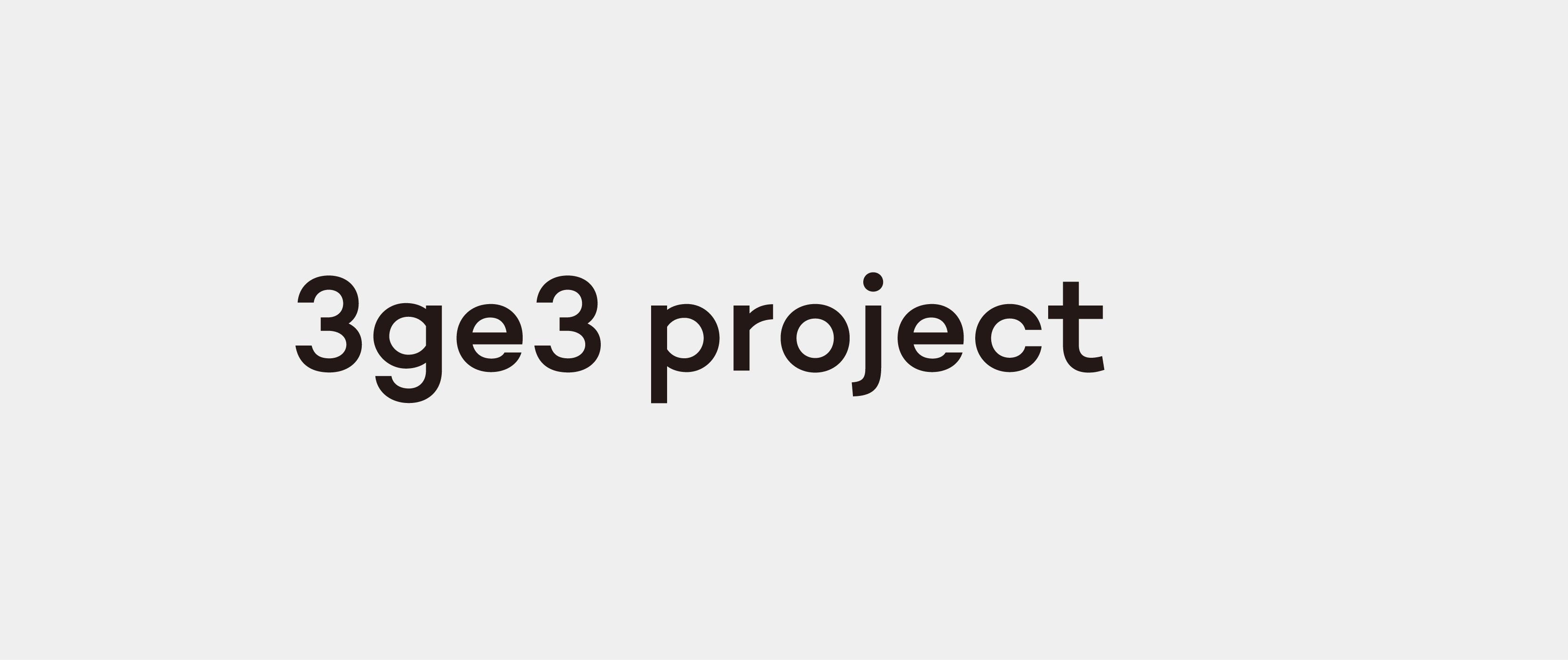 3ge3 project,联合艺术家变革艺术品,使之进入日常生活、便于使用。一生二、二生三、三生无限。品牌源自2011年起的素然没事儿生肖系列。